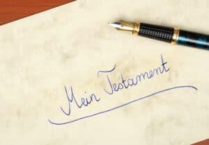 Testament selbst schreiben
